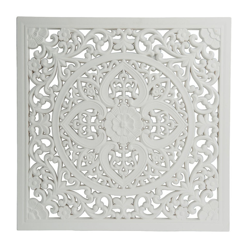 Wandpaneel  Fez - 50 x 50 cm - wit