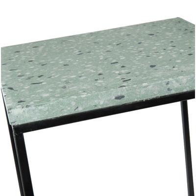 Bijzettafel terrazzo - groen - 30x30 cm