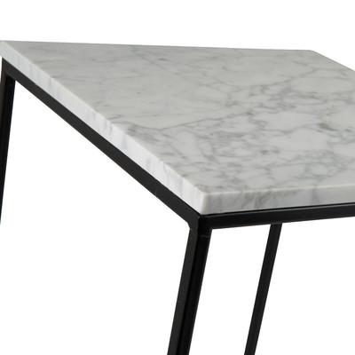 Bijzettafel marmer wit - 30x30 cm