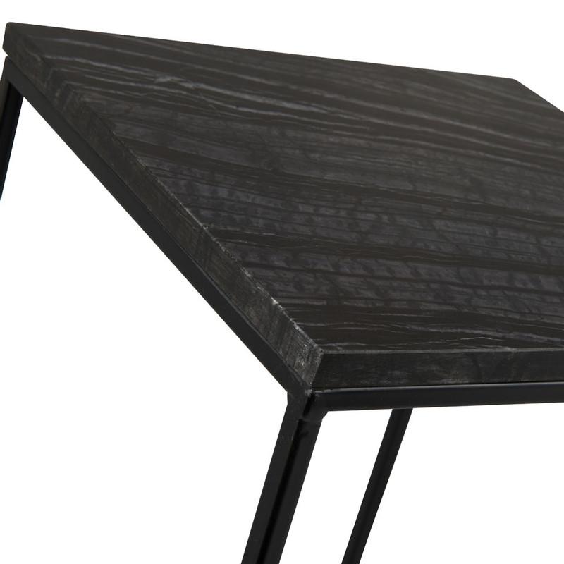 Bijzettafel marmer zwart - 30x30 cm