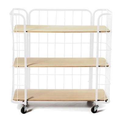 Bakkerskast breed - 3 planken - wit