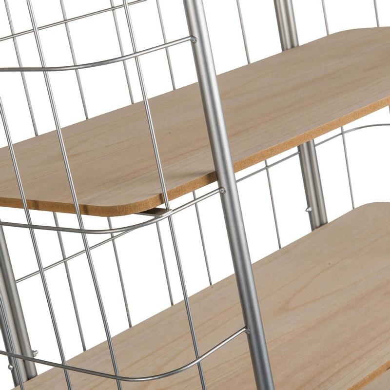 Bakkerskast - 6 planken - zilver