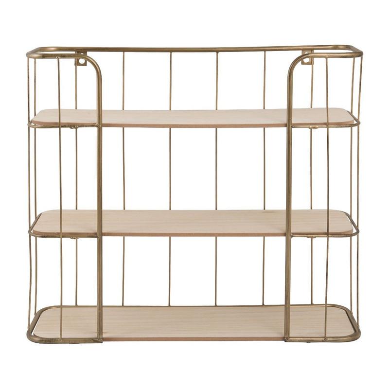 Wand-bakkerskast - 50x45.5 cm - goudkleurig