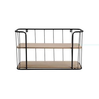 Wand-bakkerskastje - 20x60x35 cm - zwart