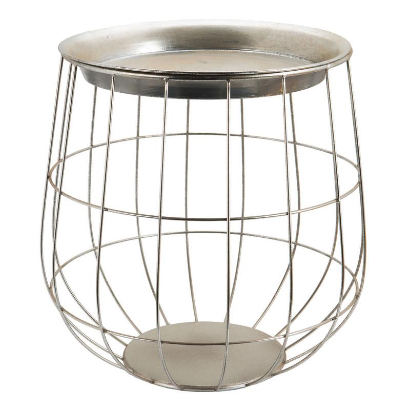 Tafeltje Malmo - zilver - 38x45 cm