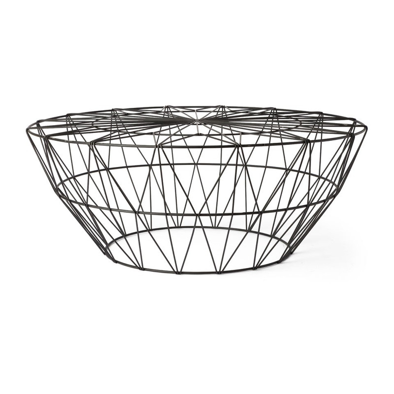 Salontafel Malmo - zwart - 75x30 cm