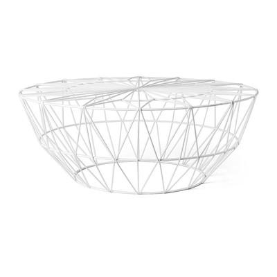 Salontafel Malmo - wit - 75x30 cm