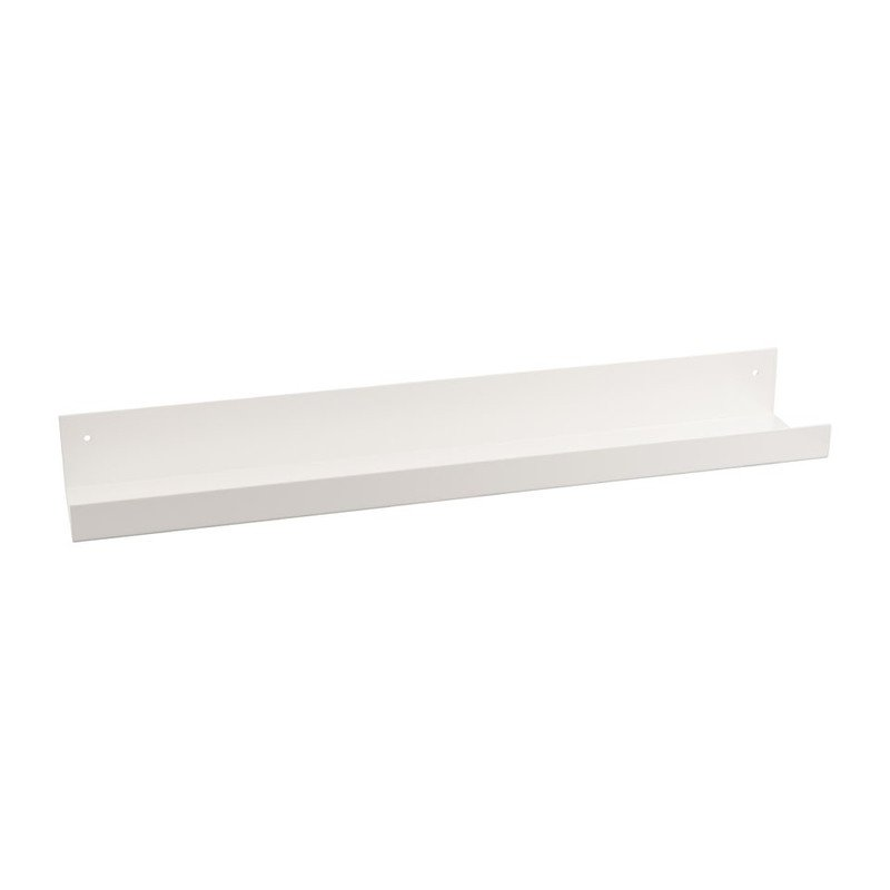Wandplank metaal - 60 cm - wit