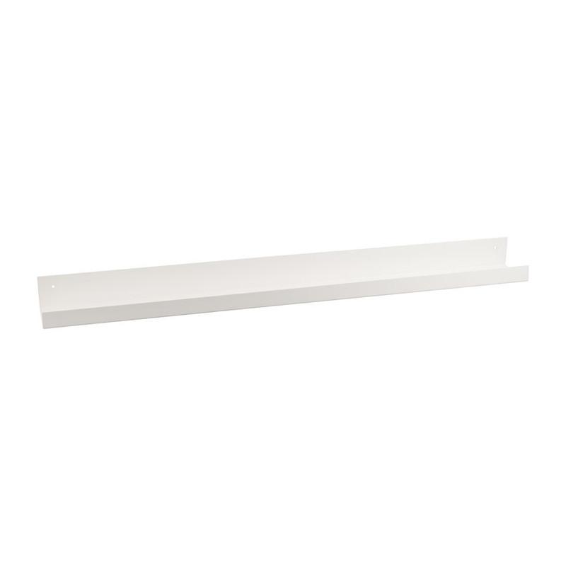 Wandplank metaal - 90 cm - wit