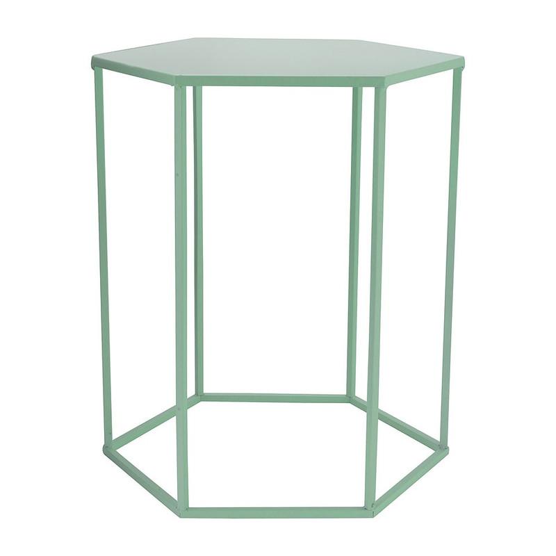 Bijzettafeltje 6-kant - groen - 35x40x45 cm