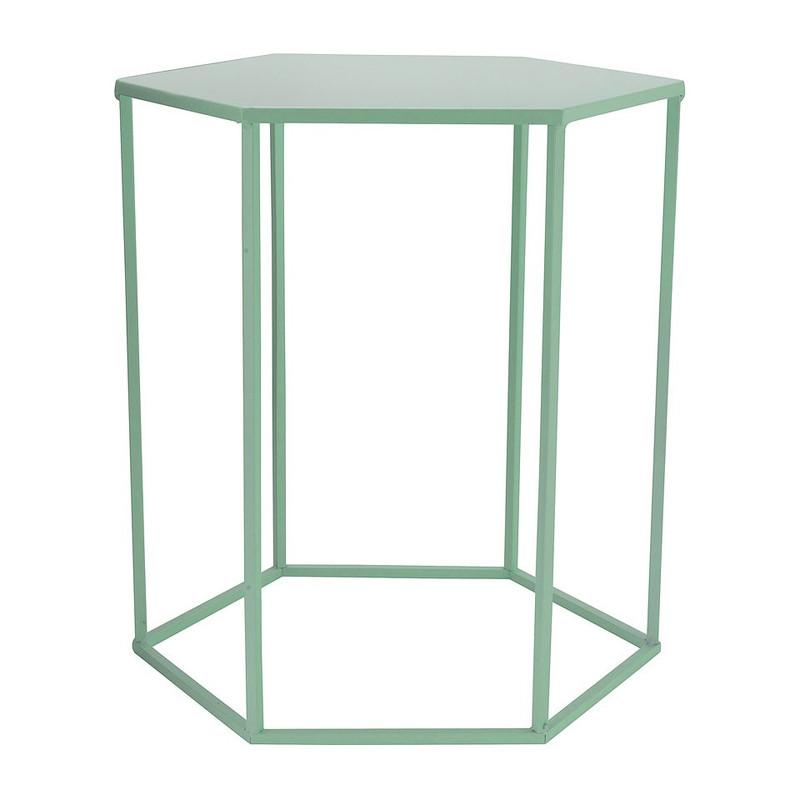 Bijzettafeltje 6-kant - groen - 40x45x50 cm