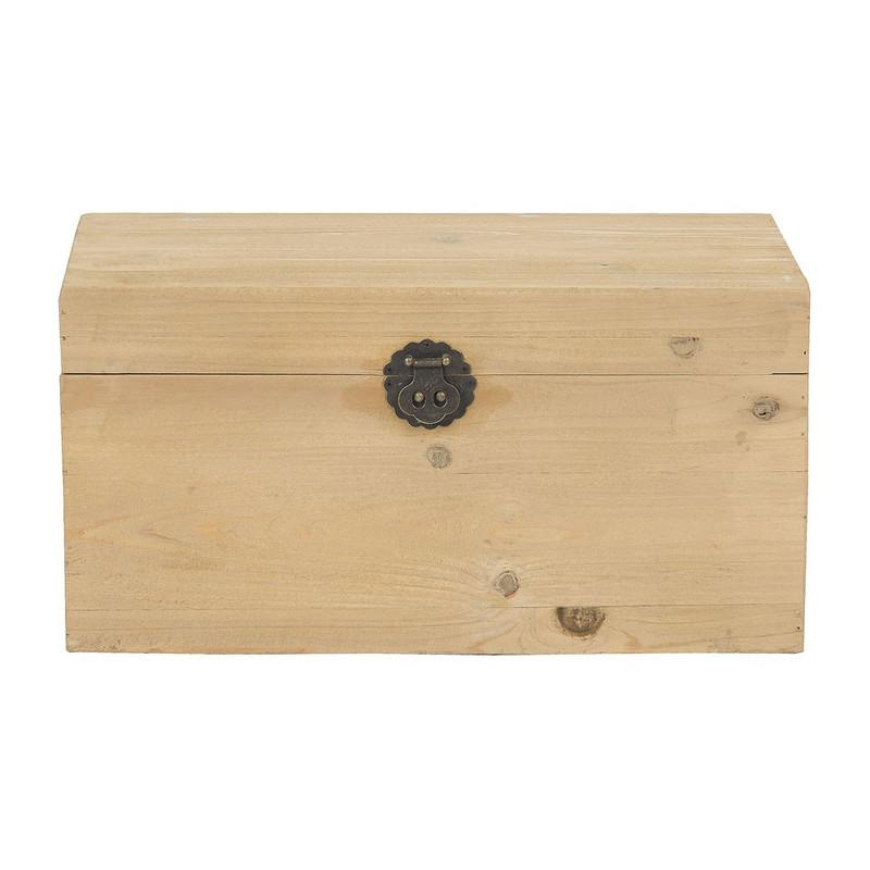 Kist hout - 28x47x24 cm