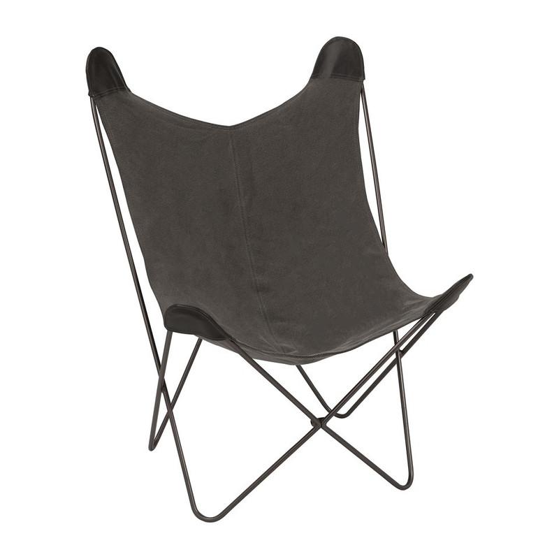 Vlinderstoel - grijs