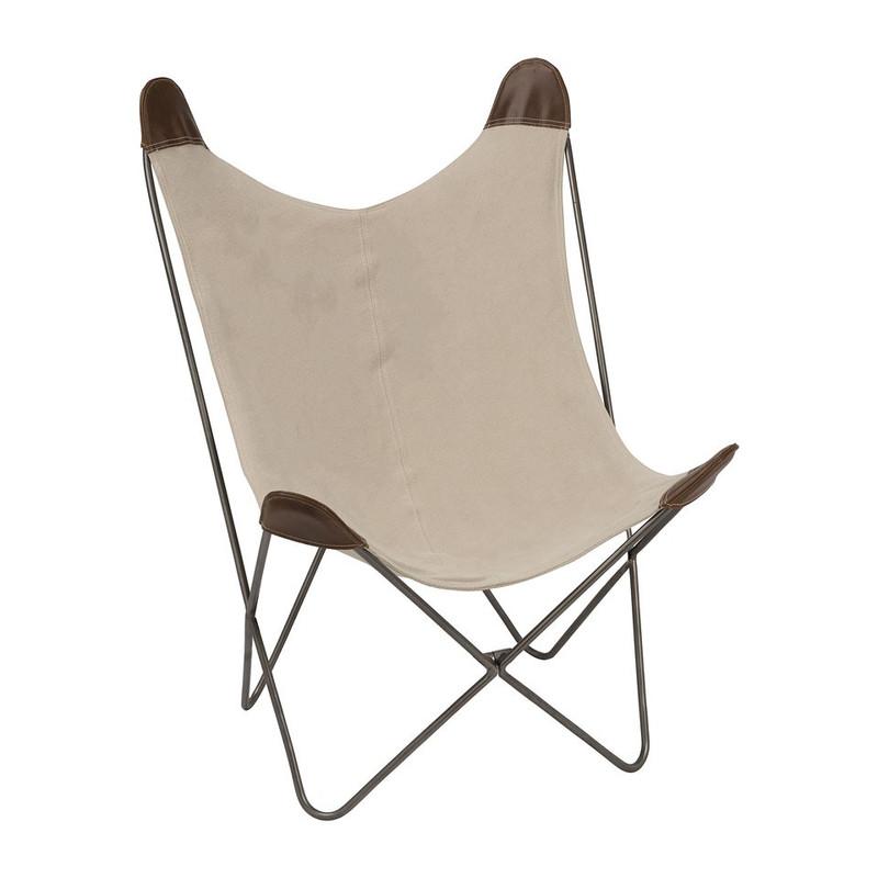 Vlinderstoel - beige