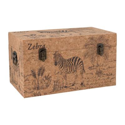 Opbergkist Africa - hout - 45x26x25 cm