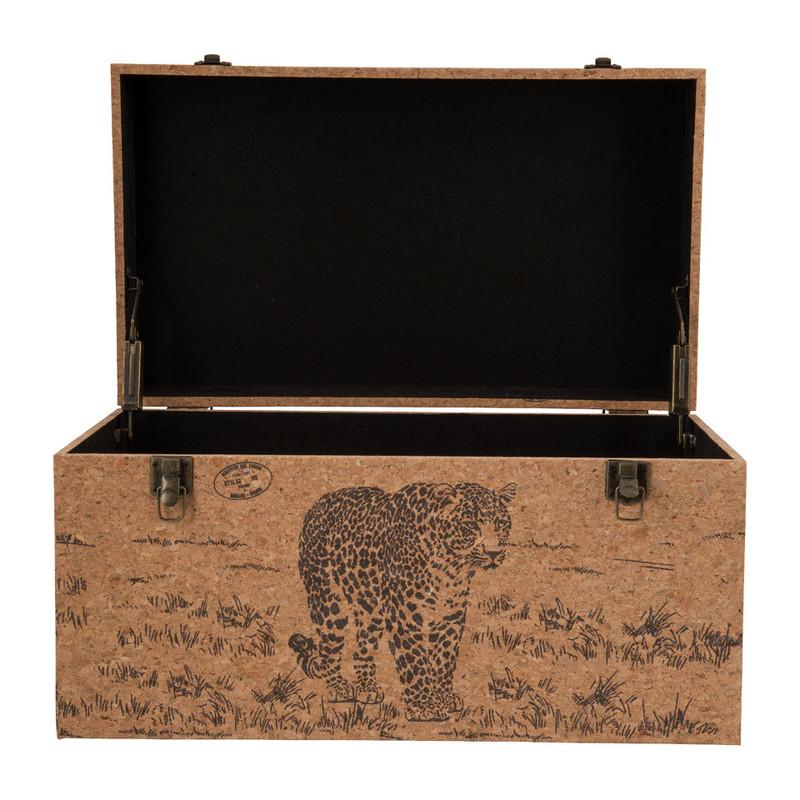 Opbergkist Africa - 55 x 32 x 30 cm  - hout