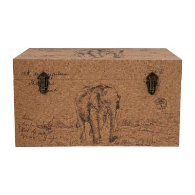 opbergkist africa 65 x 38 x 35 cm hout