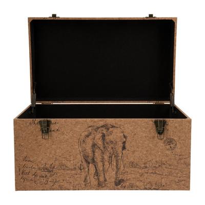 Opbergkist Africa - 65 x 38 x 35 cm  - hout