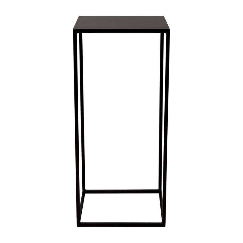 Bijzettafeltje hoog - 27x27x60 cm - zwart