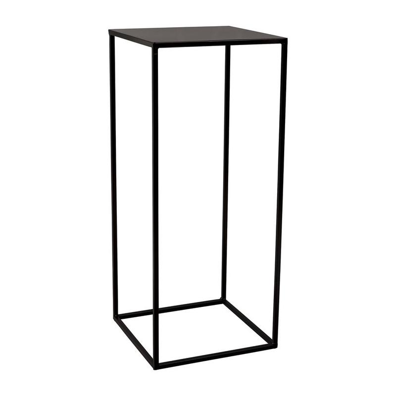 Bijzettafeltje hoog - 29.6x29.6x70cm - zwart