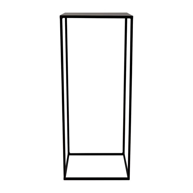Bijzettafeltje hoog - 32x32x80cm - zwart