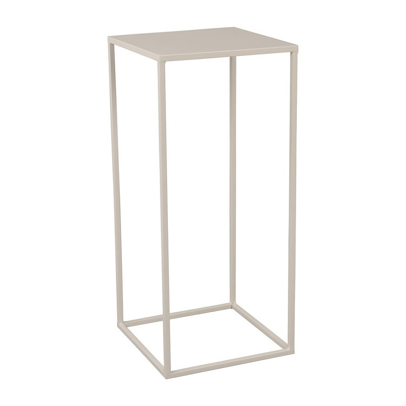 Bijzettafeltje hoog - 27x27x60 cm – wit