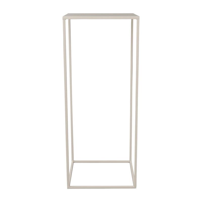 Bijzettafeltje hoog - 32x32x80 cm – wit