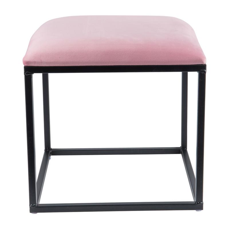 Krukje velvet - roze - 37x37x38 cm
