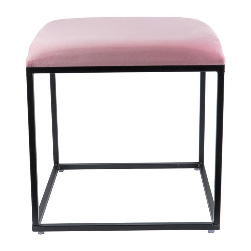 Krukje velvet - roze - 45x45x46 cm