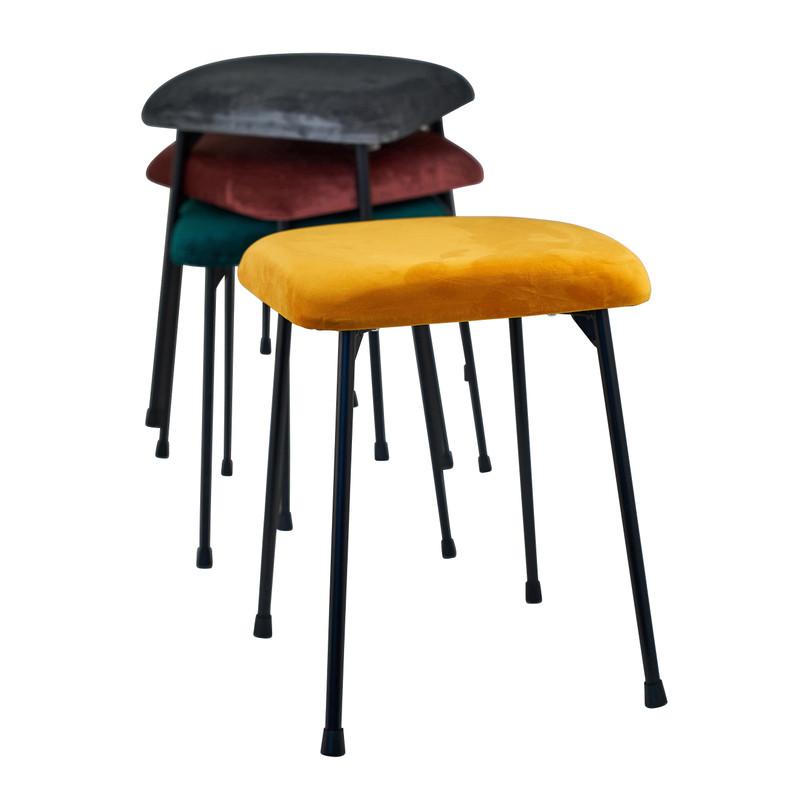 Krukje velvet kussen - geel  - 35x35x45 cm