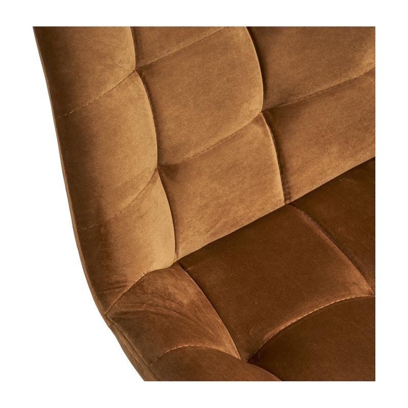 Eetkamerstoel velvet - cognac - 52x52x81 cm