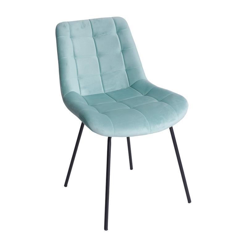 Eetkamerstoel velvet - turquoise - 52x52x81 cm