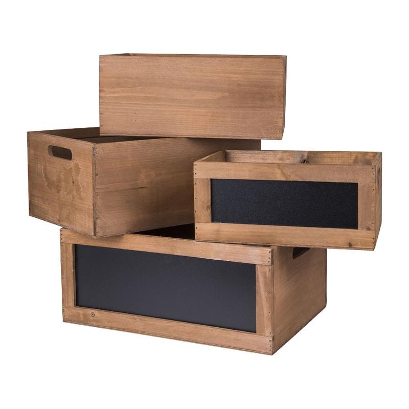 Kistje met schoolbord - 35x24x15.5 cm