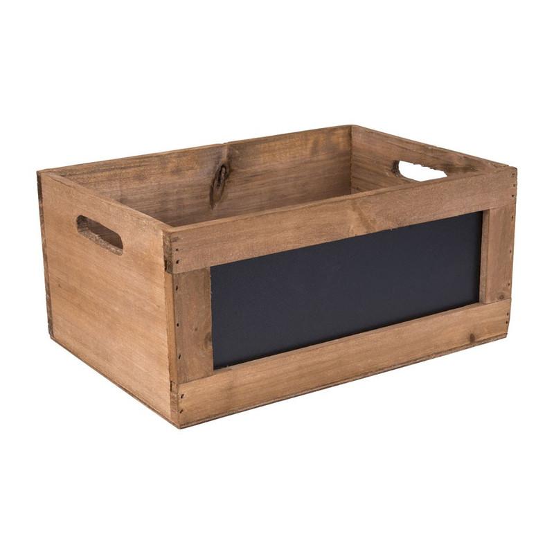 Kistje met schoolbord - 43x30x18,7 cm