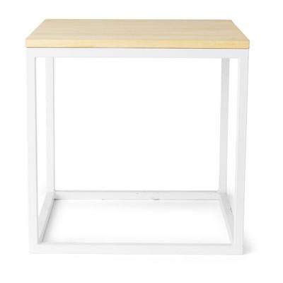 Bijzettafel met metalen frame - 35x35x35 cm