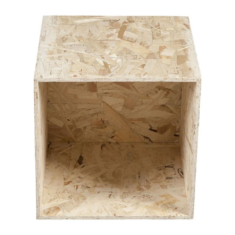 Kubus chipwood - 34x34x34 cm