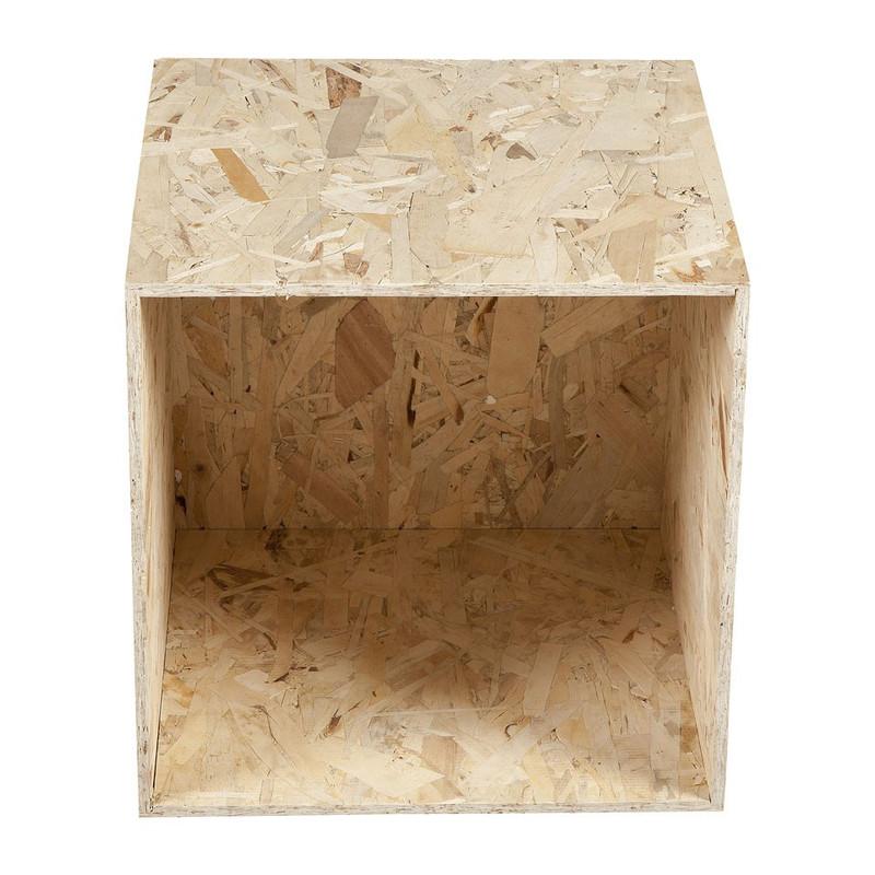 Kubus chipwood - 37x37x37 cm
