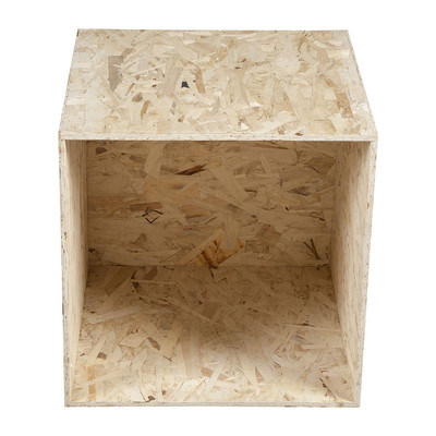 Kubus chipwood - 43x43x43 cm