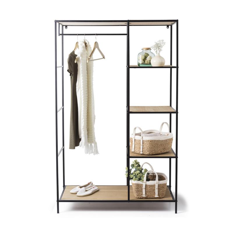 Vakkenkast/kledingrek - 100x50x160 cm