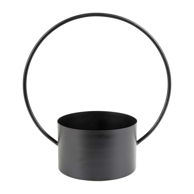 Bloempot met ronde beugel - ⌀28x36 cm