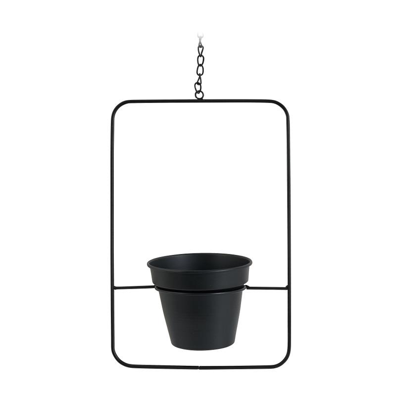 Hanger bloempot in vierkant frame - 23x14x36 cm