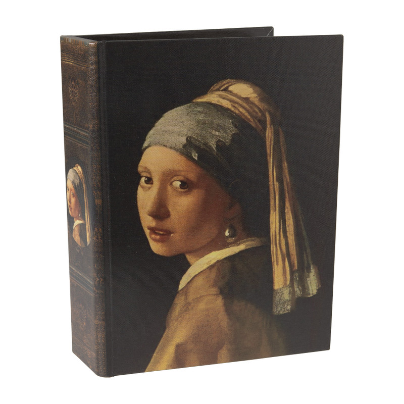 Opbergboek Meisje met parel - 18x6x24 cm