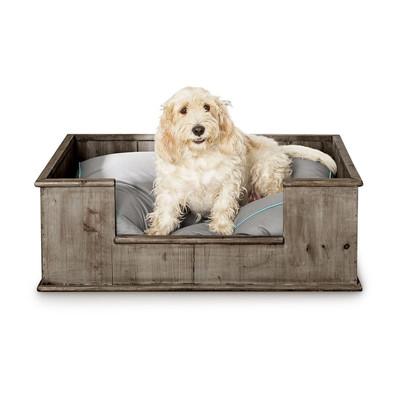 Hondenbed van steigerhout - 100x75 cm