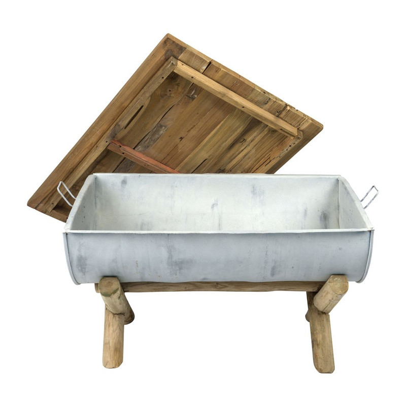 Salontafel recycle drum - 94x64x52 cm