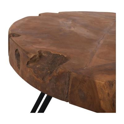 Bijzettafeltje recycle teak - 50x49 cm