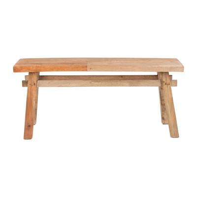 Bankje recycle Ubud - hout - 116 cm
