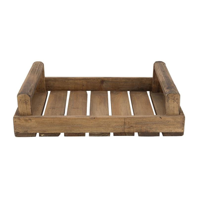 Tray met handvaten - recycled hout - 48x34x11 cm