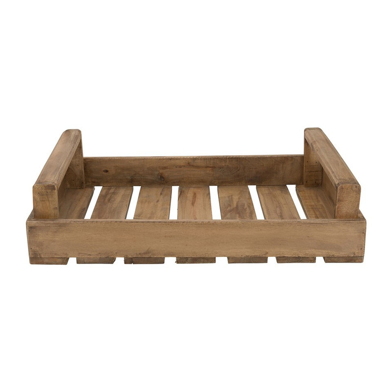 Tray met handvaten - recycled hout - 59x38x13 cm