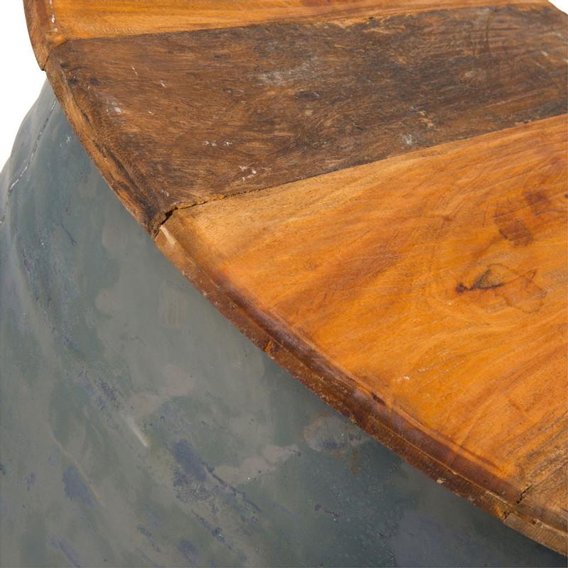 Recycle salontafel drum - rond - 62 cm