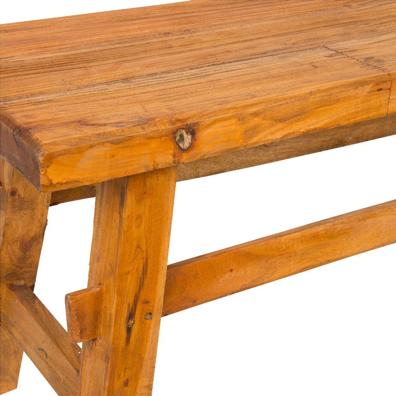 Bankje recycle hout Kuta - 118x34x48 cm